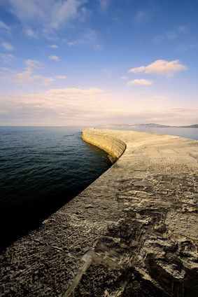lyme regis dorset england the cobb harbour wall
